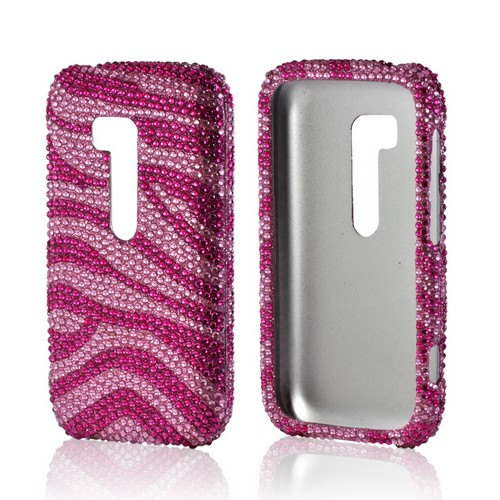 Hot Pink/ Baby Pink Zebra Bling Hard Case for Nokia Lumia 822