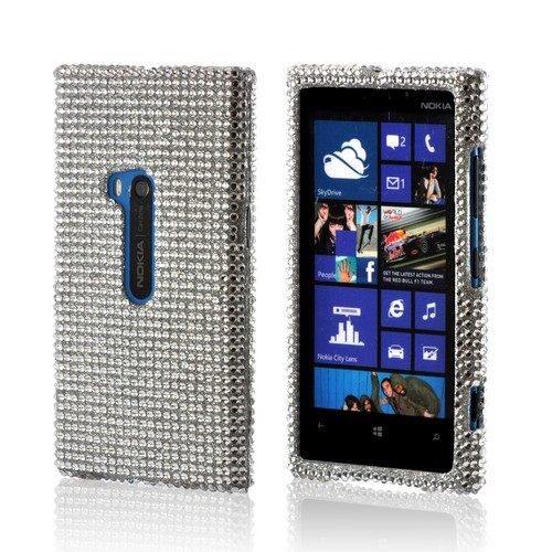 Silver Gems Bling Hard Case for Nokia Lumia 920