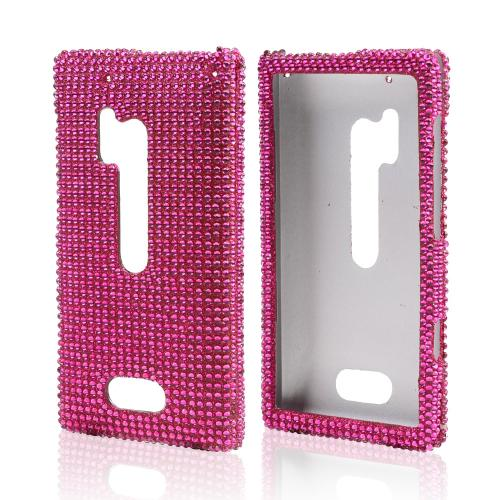 Hot Pink Gems Bling Hard Case for Nokia Lumia 928