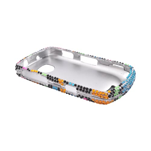 Samsung Droid Charge Bling Hard Case - Rainbow Zebra