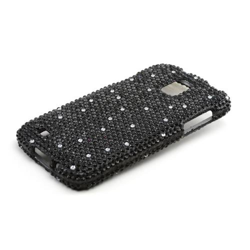 Black Gems Bling Hard Case for Samsung Galaxy S4 Active