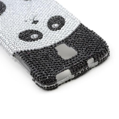 Silver/ Black Panda Bear Bling Hard Case for Samsung Galaxy S4 Active