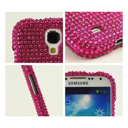 Hot Pink Gems Bling Hard Case for Samsung Galaxy S4