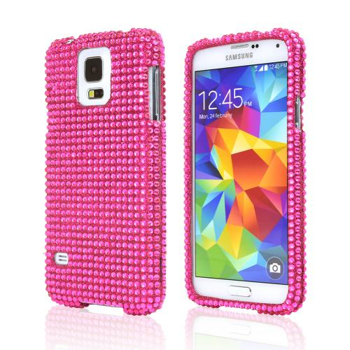 Hot Pink Bling Dazzle Hard Case for Samsung Galaxy S5