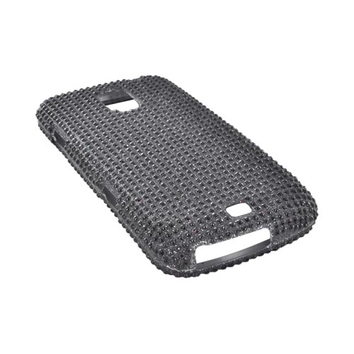 Samsung Galaxy Nexus Bling Hard Case - Black Gems