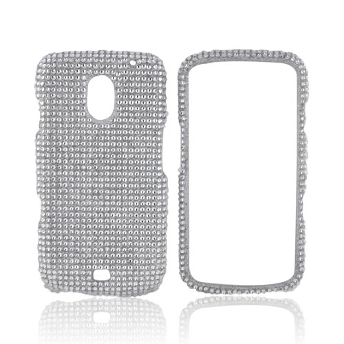 Samsung Galaxy Nexus Bling Hard Case - Silver Gems