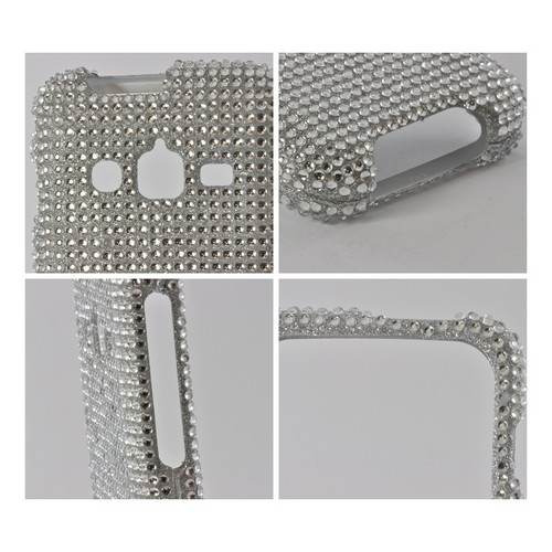 Silver Gems Bling Hard Case for Samsung Rugby Pro