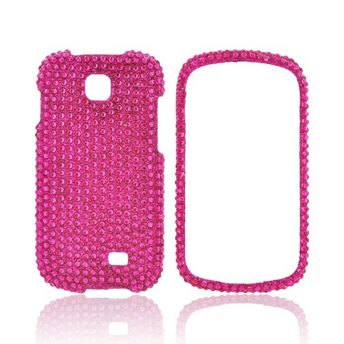 Samsung Galaxy Appeal Bling Hard Case - Hot Pink Gems