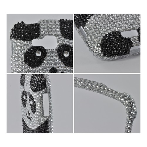 Black/ Silver Panda Bling Hard Case for Samsung ATIV Odyssey