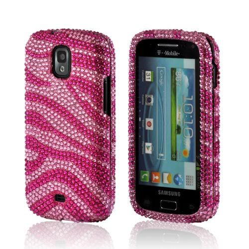 Hot Pink/ Baby Pink Zebra Bling Hard Case for Samsung Galaxy S Relay 4G
