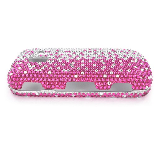 Samsung Intensity III Bling Hard Case - Hot Pink/ Silver Gems