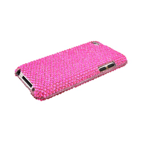 Luxmo Apple iPod Touch 4 Bling Hard Case - Hot Pink