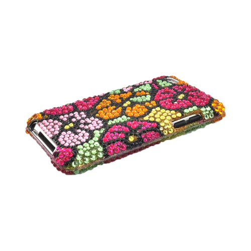 Luxmo Apple iPod Touch 4 Bling Hard Case - Green/Pink/Yellow Hawaii Flowers