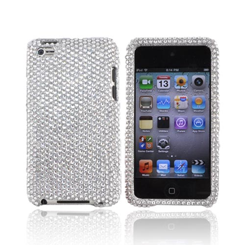Luxmo Apple iPod Touch 4 Bling Hard Case - Silver