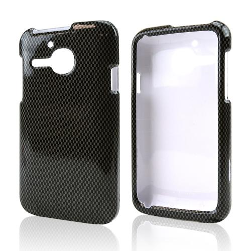 Dark Gray/ Black Carbon Fiber Design Hard Case for Alcatel One Touch Evolve