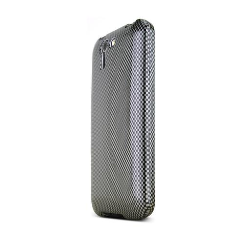 Black/ Gray Carbon Fiber Design Asus PadFone X Hard Case Cover; Perfect fit as Best Coolest Design Plastic cases