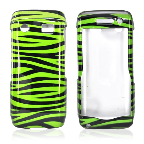 Blackberry Pearl 3G 9100/9105 Hard Case - Green/Black Zebra