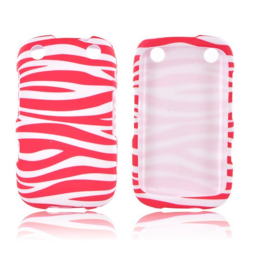 BlackBerry Curve 9310/9320 Hard Case - Hot Pink/ White Zebra