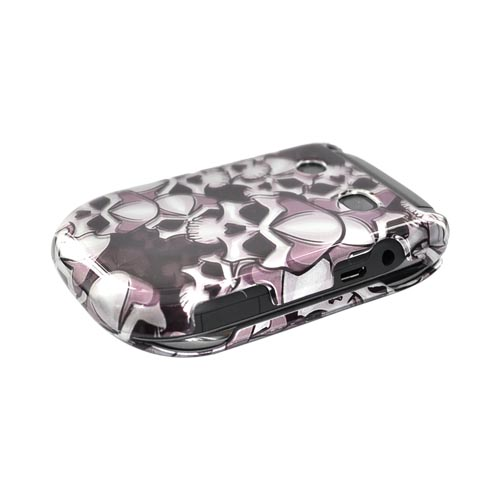 Luxmo Blackberry Style 9670 Hard Case - Black Skulls on Silver