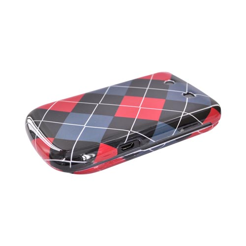 Blackberry Torch 9800 Hard Case - Red, Gray, Black, White Argyle