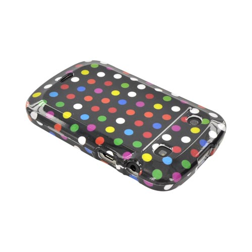 Blackberry Bold 9900, 9930 Hard Case - Rainbow Polka Dots on Black