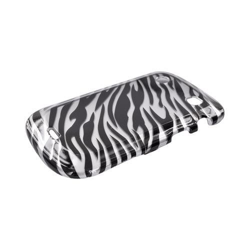 Blackberry Bold 9900, 9930 Hard Case - Black Zebra on Silver
