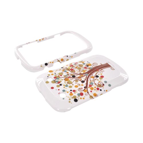 Blackberry Bold 9900, 9930 Hard Case - Tree Design on White