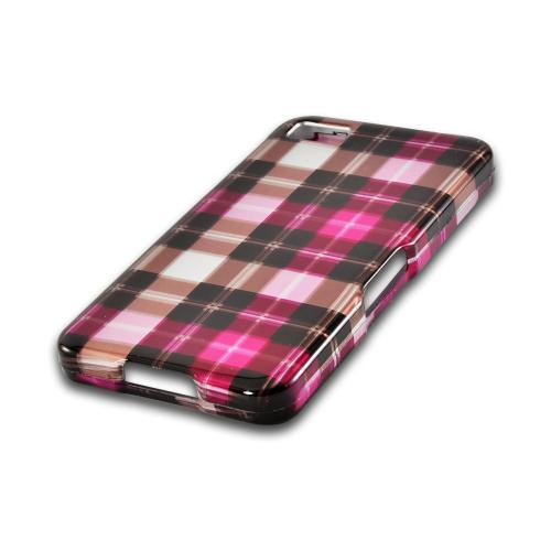 Plaid Pattern of Pink/ Hot Pink/ Brown/ Gray Hard Case for Blackberry Z10