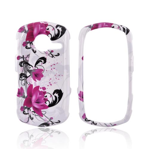 Casio G'zOne Commando C771 Hard Case - Pink Flowers on White