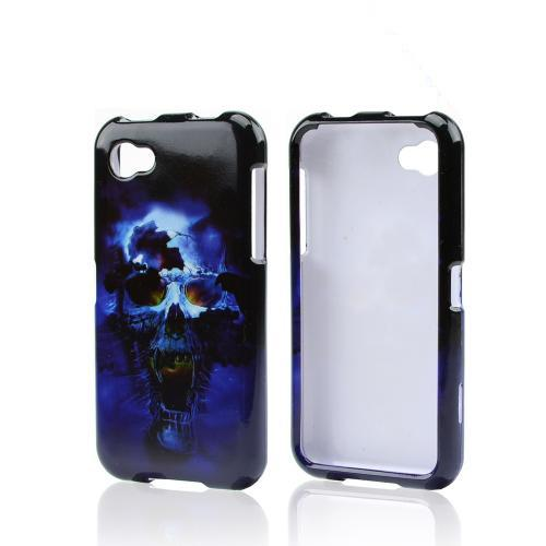 Blue Skull Hard Case HTC First