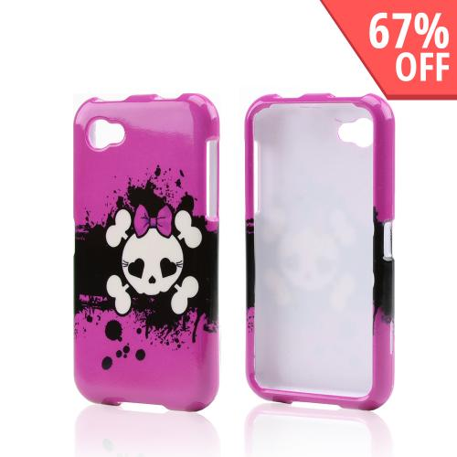 Hot Pink Skull w/ Bow Hard Case for HTC First