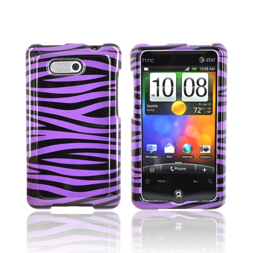 HTC Aria Hard Case - Purple/Black Zebra