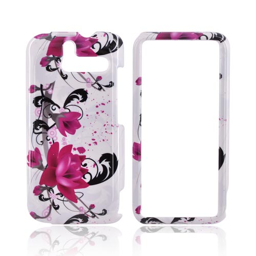HTC Arrive Hard Case - Pink Flowers on White