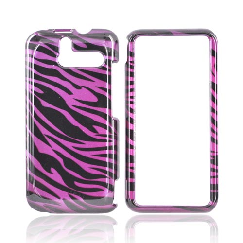 HTC Arrive Hard Case - Purple Zebra on Black