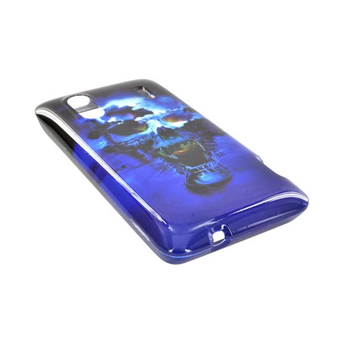 HTC EVO Design 4G Hard Case - Blue Skull
