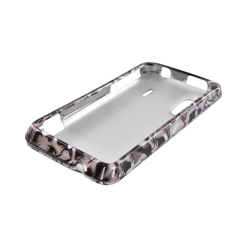 HTC EVO Design 4G Hard Case - Silver Skulls on Black