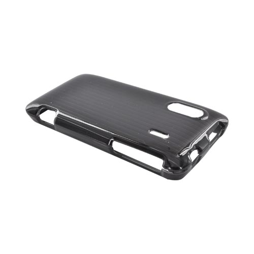 HTC EVO Design 4G Hard Case - Silver Lines on Black