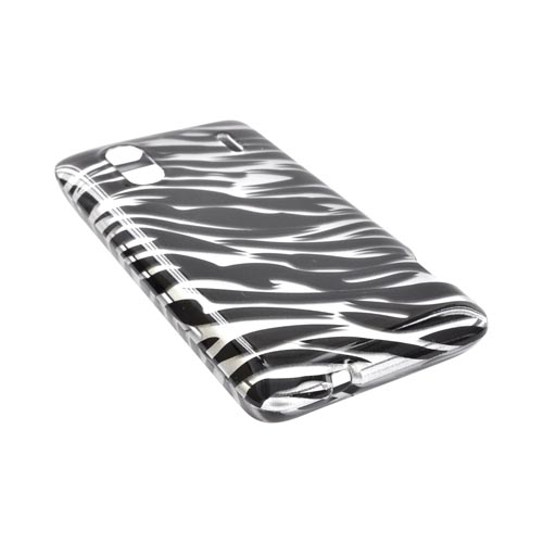 HTC EVO Design 4G Hard Case - Black/ Silver Zebra