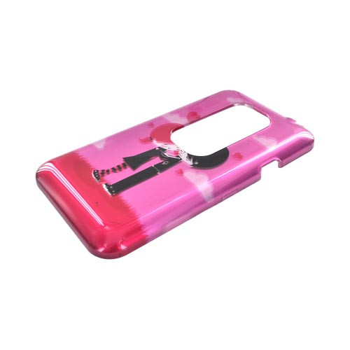 HTC EVO 3D Hard Case - Pink Emo Love