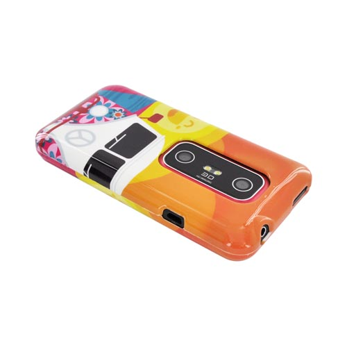 HTC EVO 3D Hard Case - Hippie Van