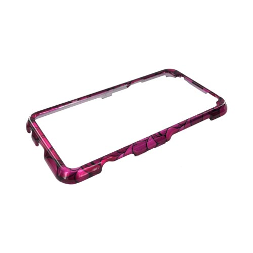 HTC EVO 3D Hard Case - Hot Pink/ Light Pink/ Magenta Flower Petals
