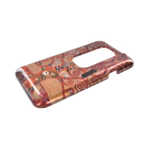 HTC EVO 3D Hard Case - Tree of Life on Coffee Brown