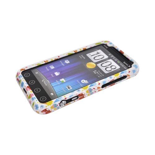 HTC EVO 3D Hard Case - Colorful Ice Cream Desserts on White