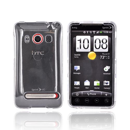 HTC Evo 4G Hard Case - Transparent Clear