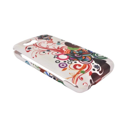 T-Mobile G2 Hard Case - Autumn Floral Burst on White