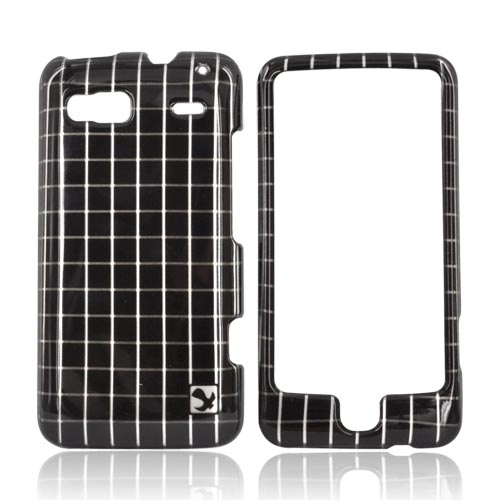 Luxmo T-Mobile G2 Hard Case - Black Squares on Silver