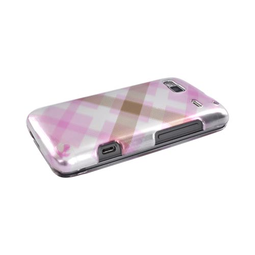 Luxmo T-Mobile G2 Hard Case - Pastel Pink/Silver Checkered Pattern