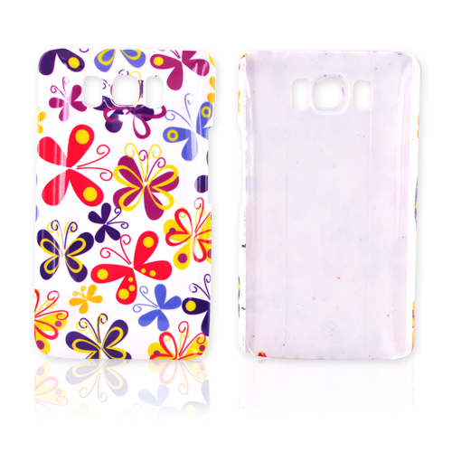 HTC HD2 Hard Case - Rainbow Butterfly on White