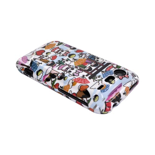HTC Droid Incredible 2 Hard Case - Kawaii Baby Skull Design on White