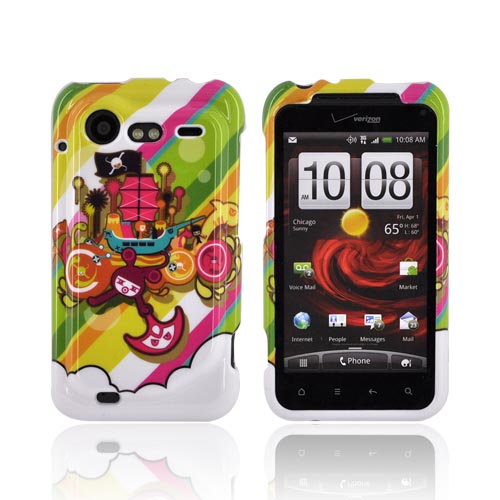 HTC Droid Incredible 2 Hard Case | Colorful Pirate Bay on White